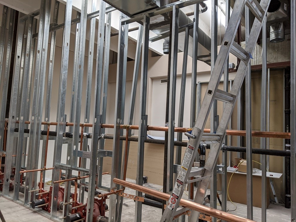 1st floor – more copper pipes