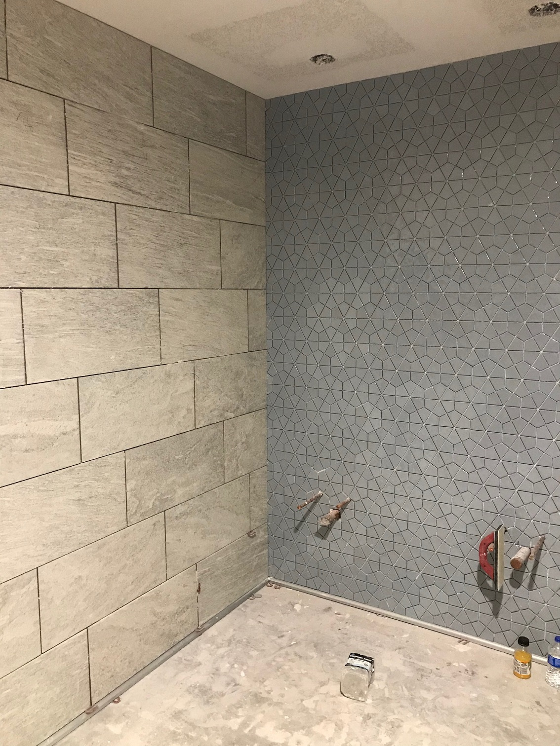 grey accent tile sample