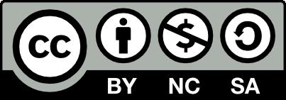 Creative Common License CC BY-NC-SA 3.0
