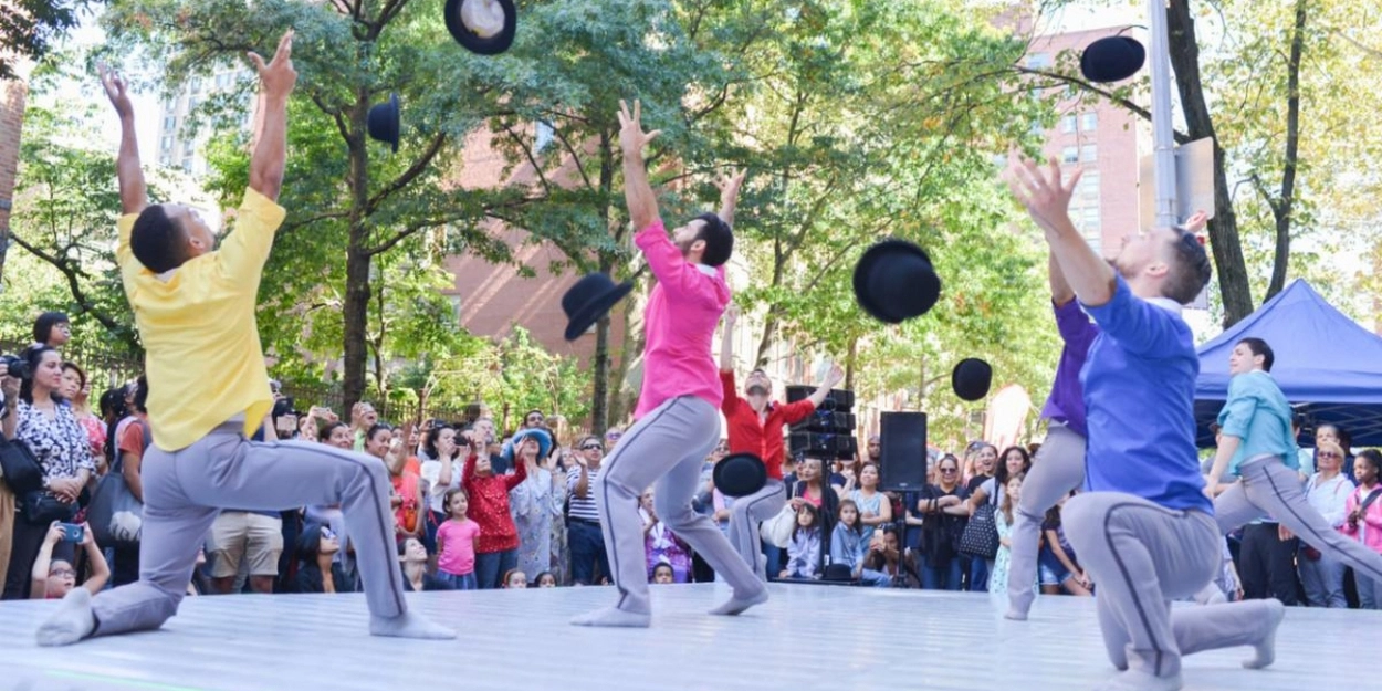 dancers throwing hats on stage