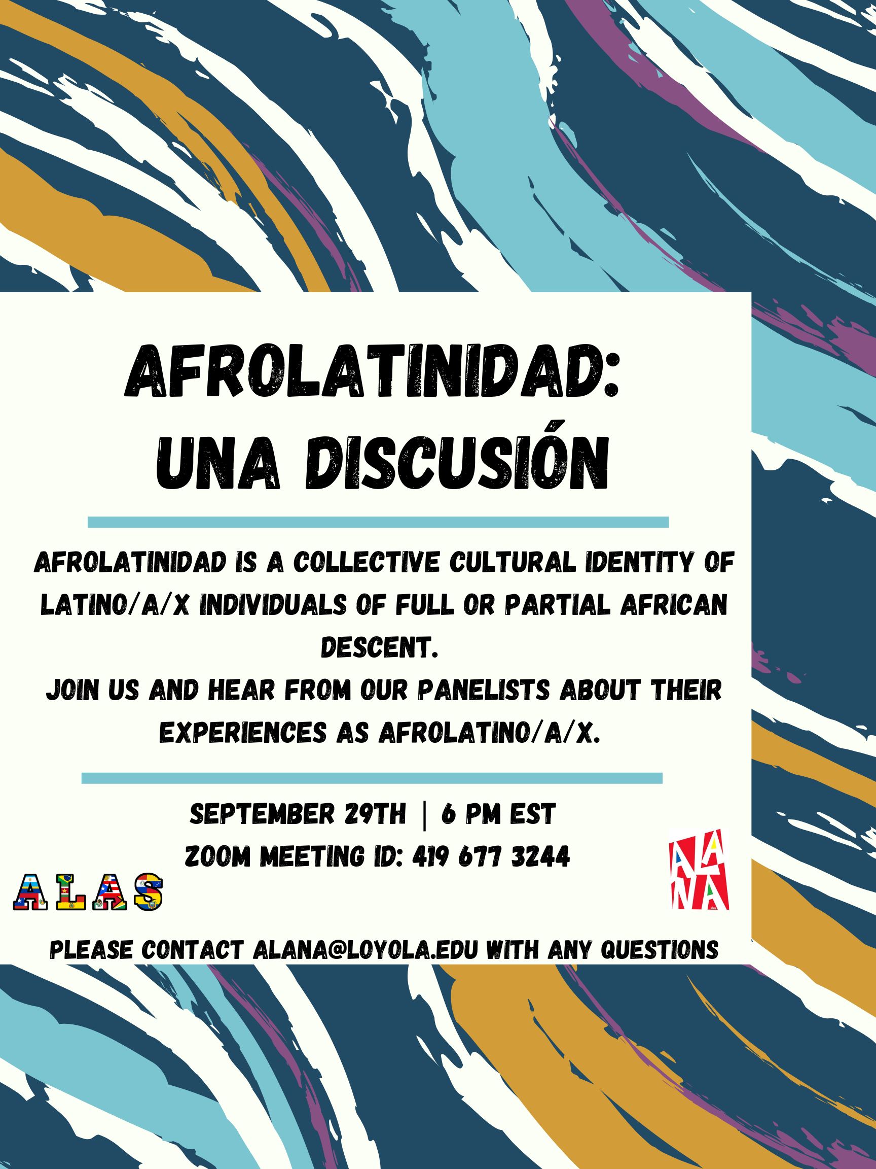 poster for AfroLatinidad event