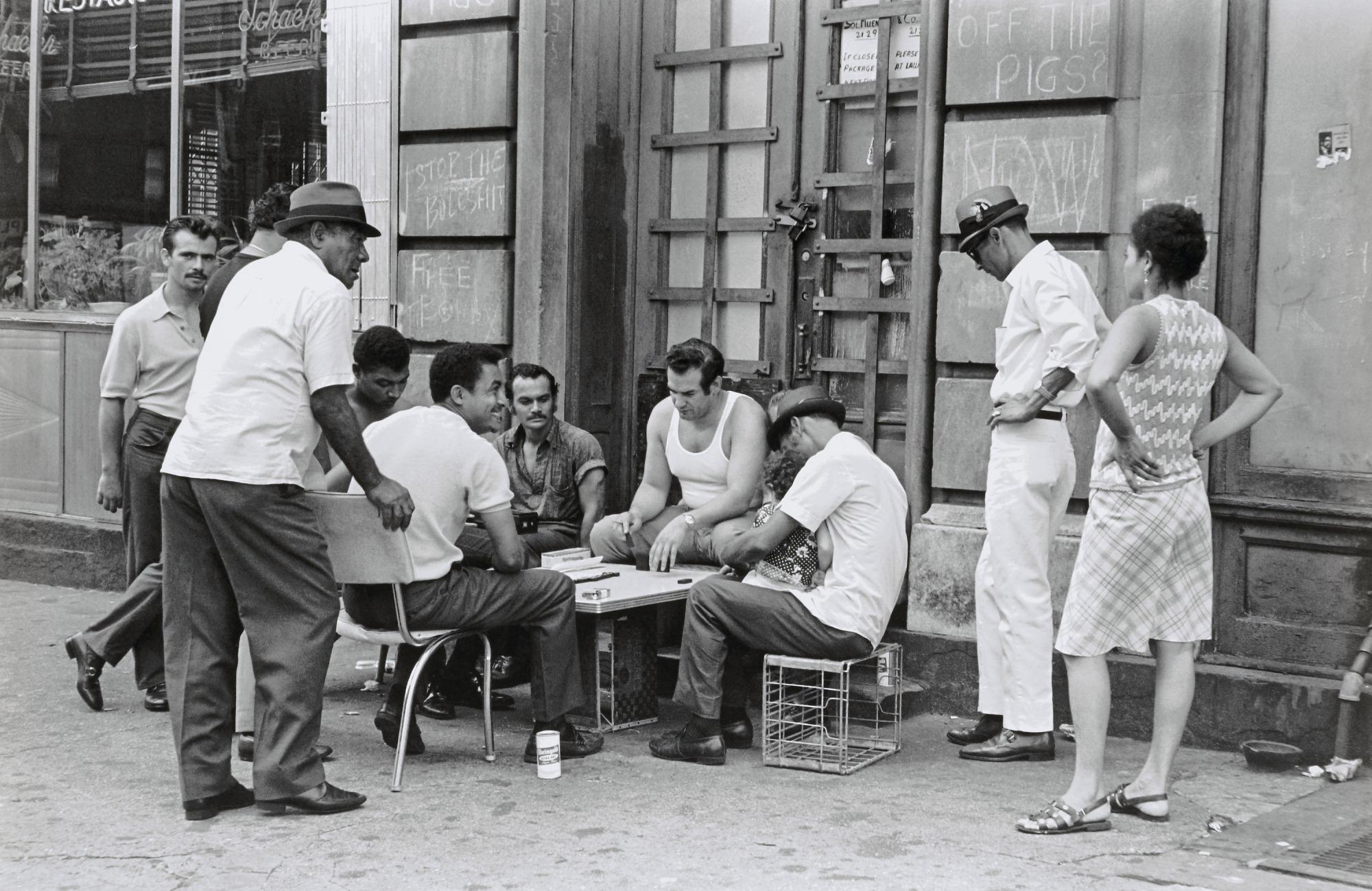 domino players, washington heights, NY - winston vargas