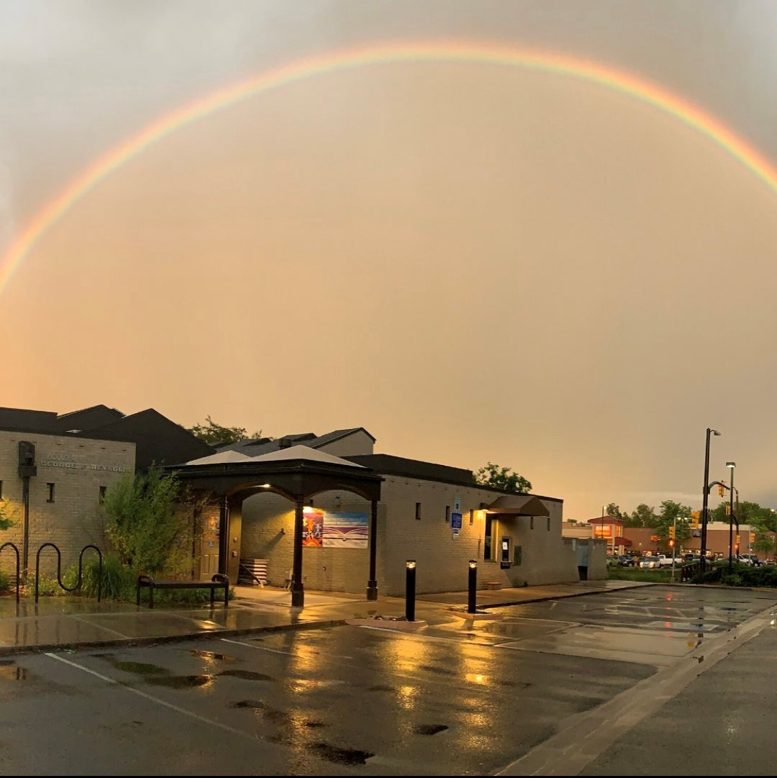 Reynolds Branch Library and Rainbow