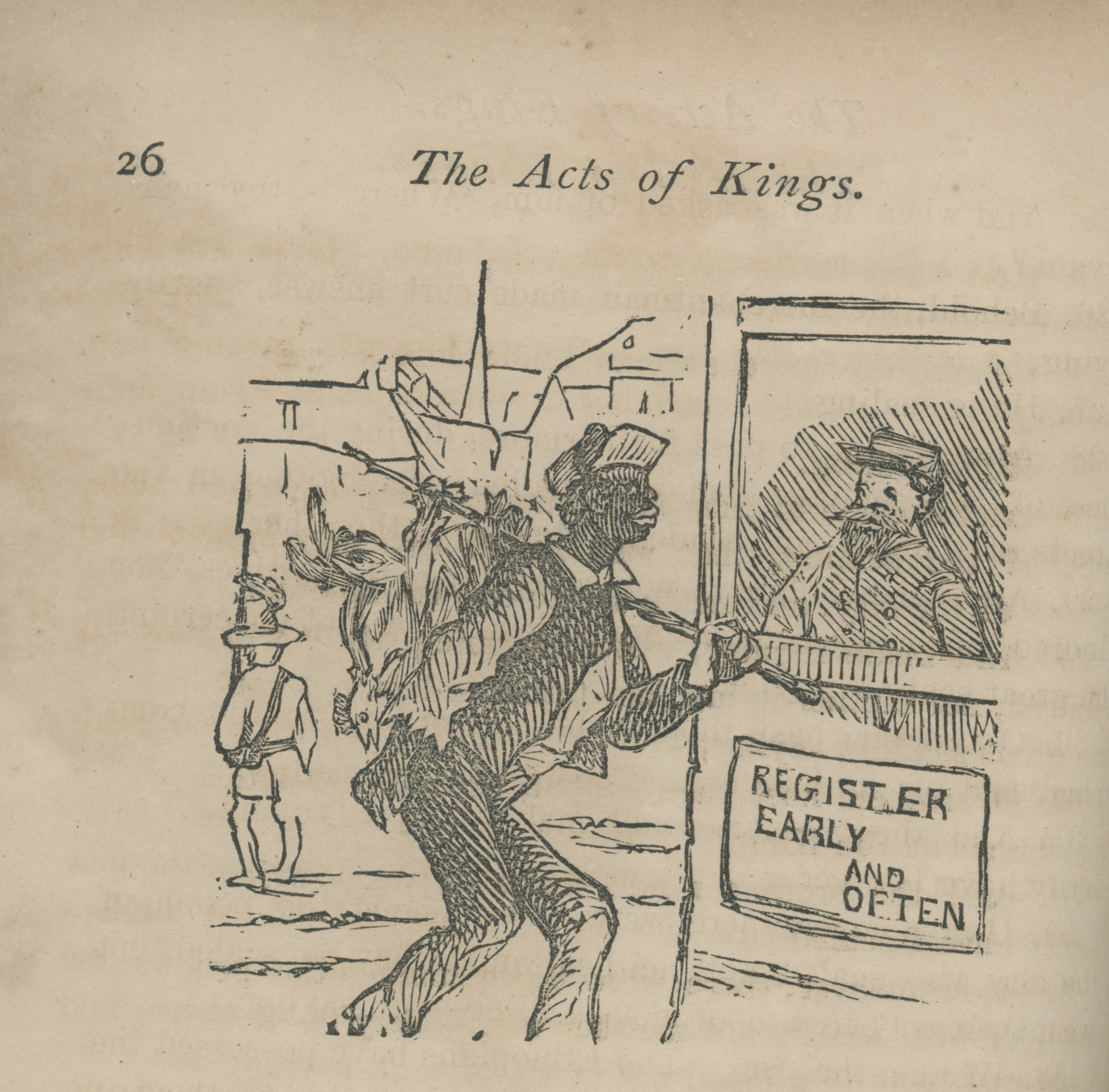 The acts of kings: a biblical narrative of the acts of the first and second kings of the first province, once Virginia: including the doings of the first and second tycoons of the city of Richmond, from the surrender to the present time. New York: G.W. Carelton, 1868.