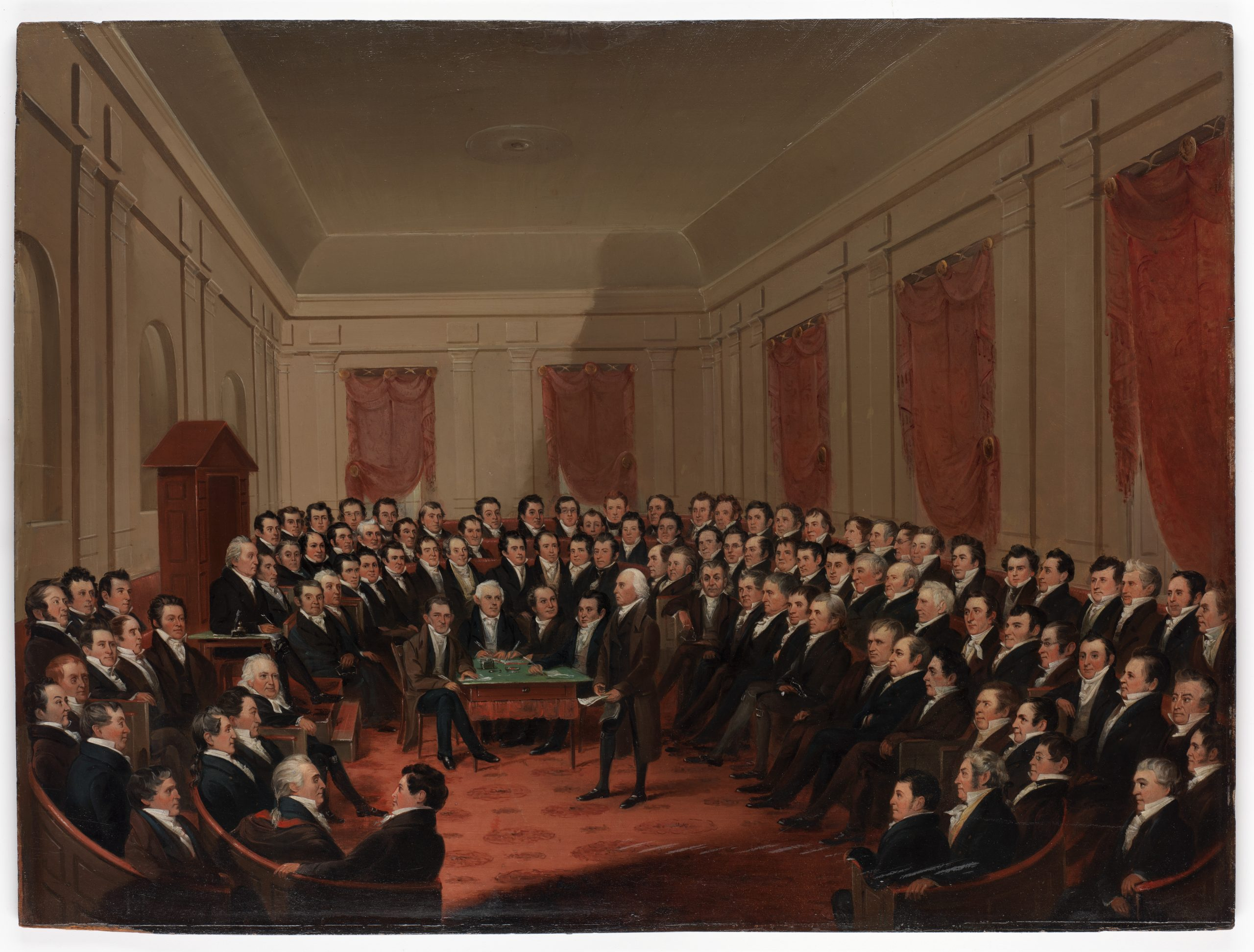 Painting, Virginia [Constitutional] Convention of 1829- 1830 by George Catlin.