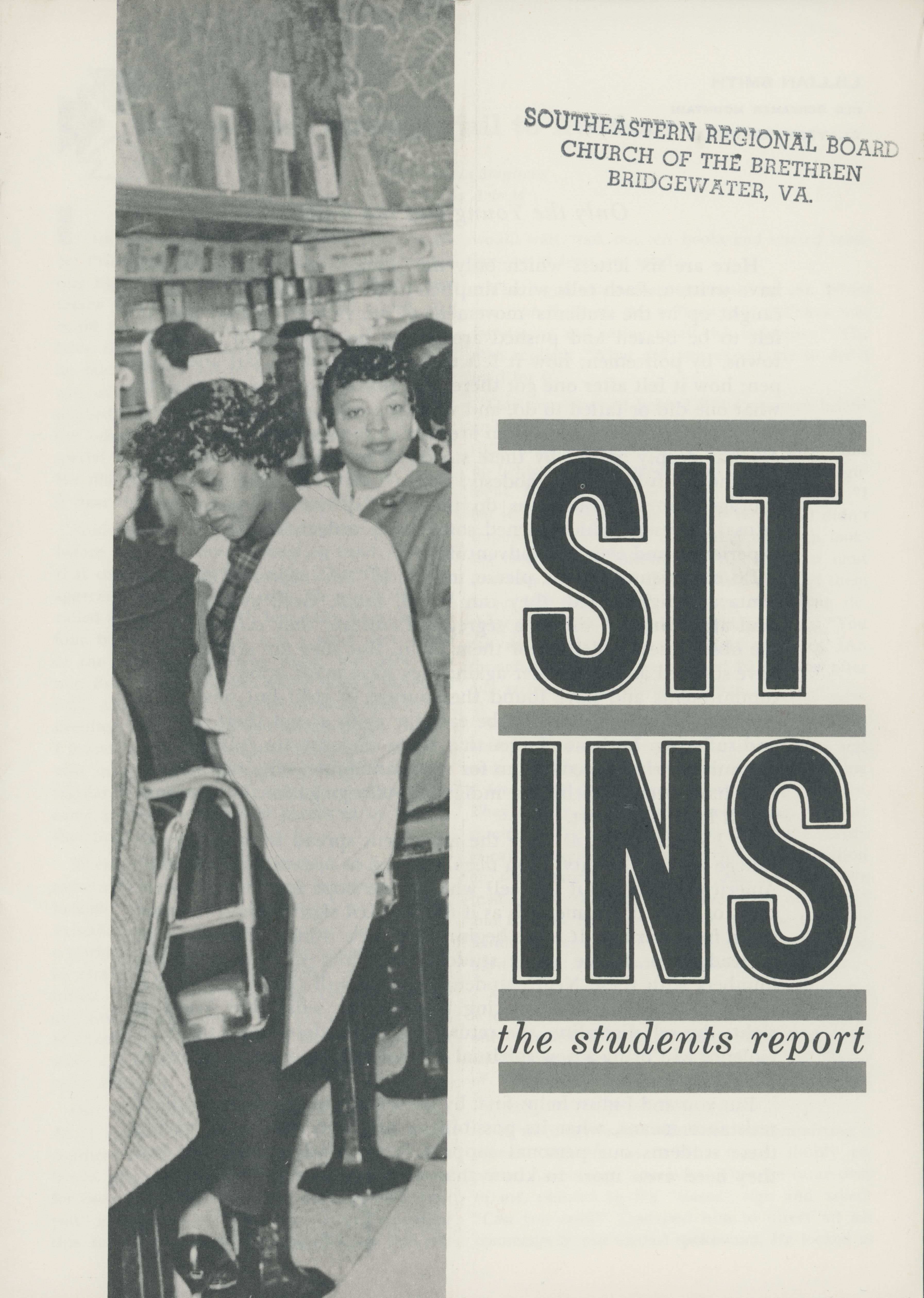 Sit Ins: The Students Report, compiled by Jim Peck. Designed by Jerry Goldman. New York: Congress of Racial Equality (CORE), May 1960.