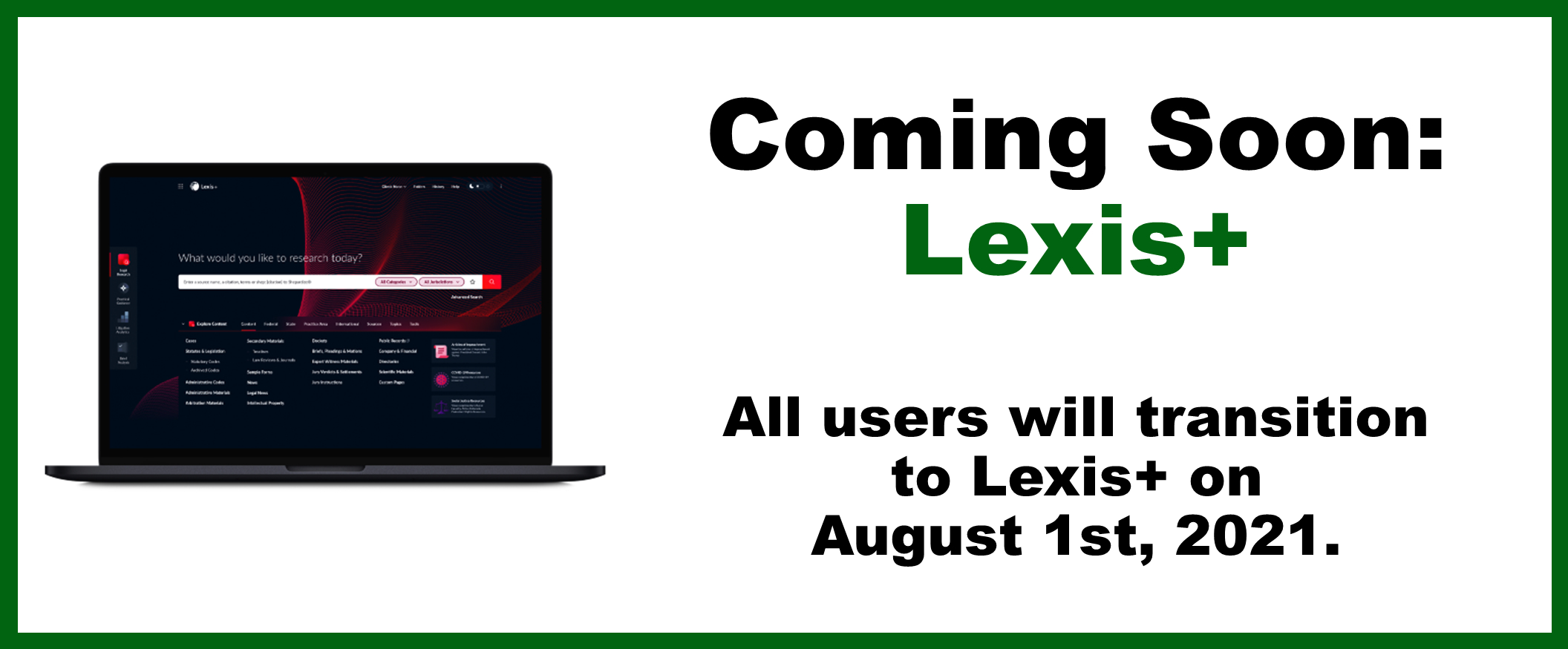Laptop with Lexis+ interface