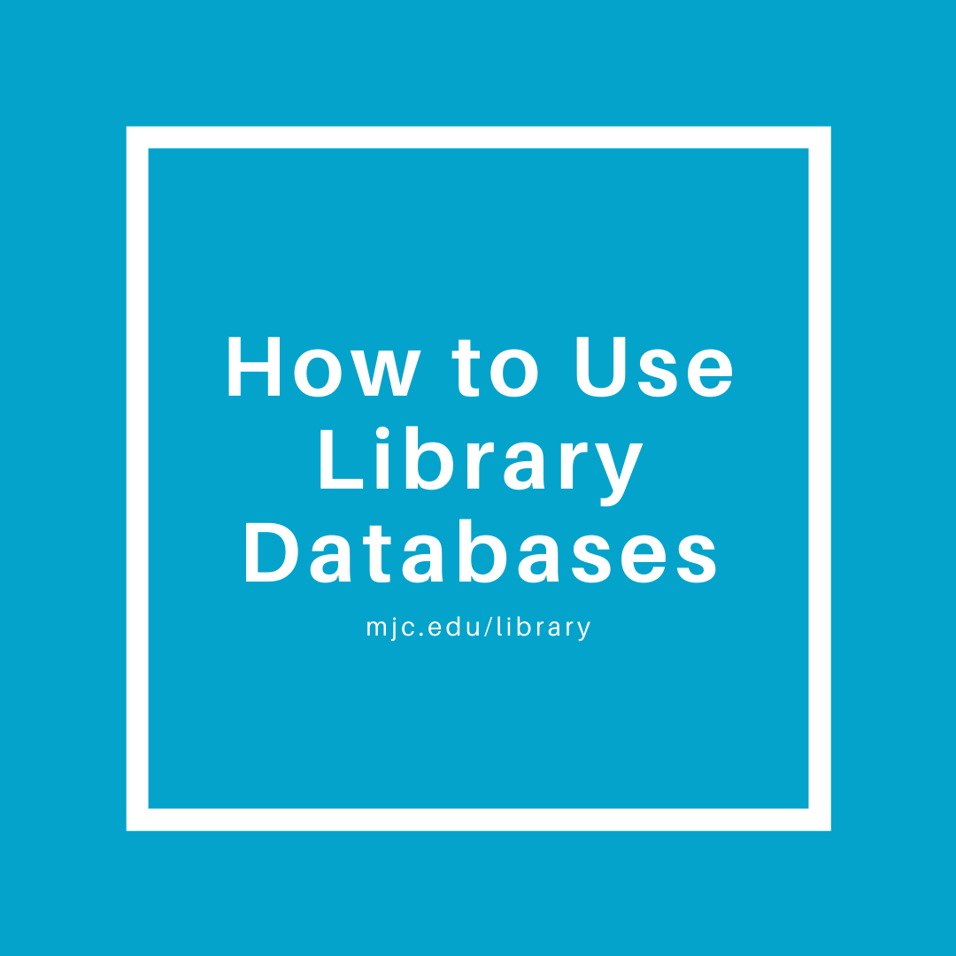 how to use library databases