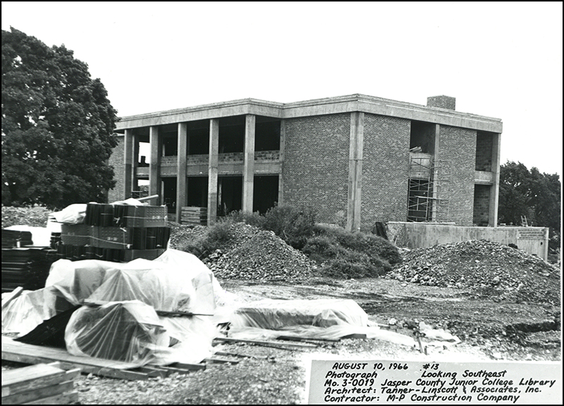 1966 Spiva Library Construction