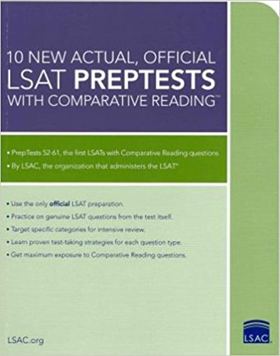 10 new actual, official LSAT preptests with comparative reading