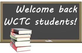Welcome back WCTC students!