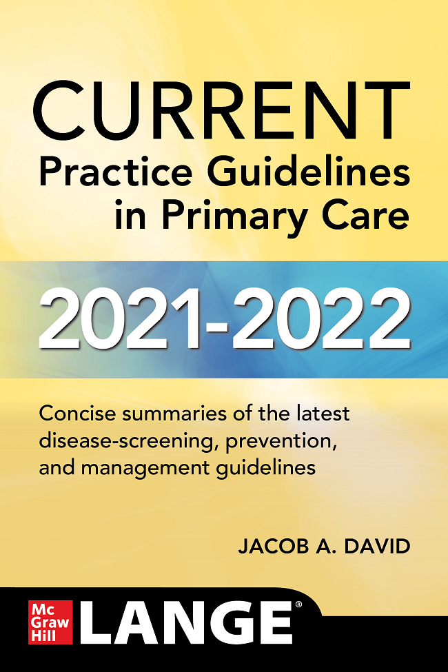 CURRENT Practice Guidelines in Primary Care 2021 - 2022