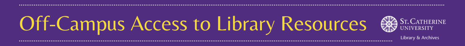 Off-Campus Access to Library Resources