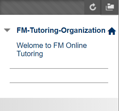 Tutoring and Writing Center in Blackboard