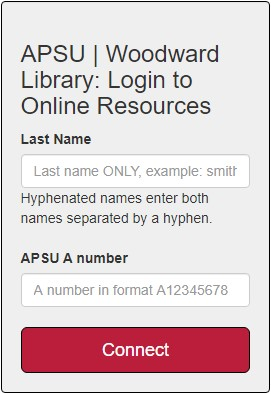 Off Campus login screenshot