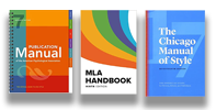 Three Style Guide Manuals