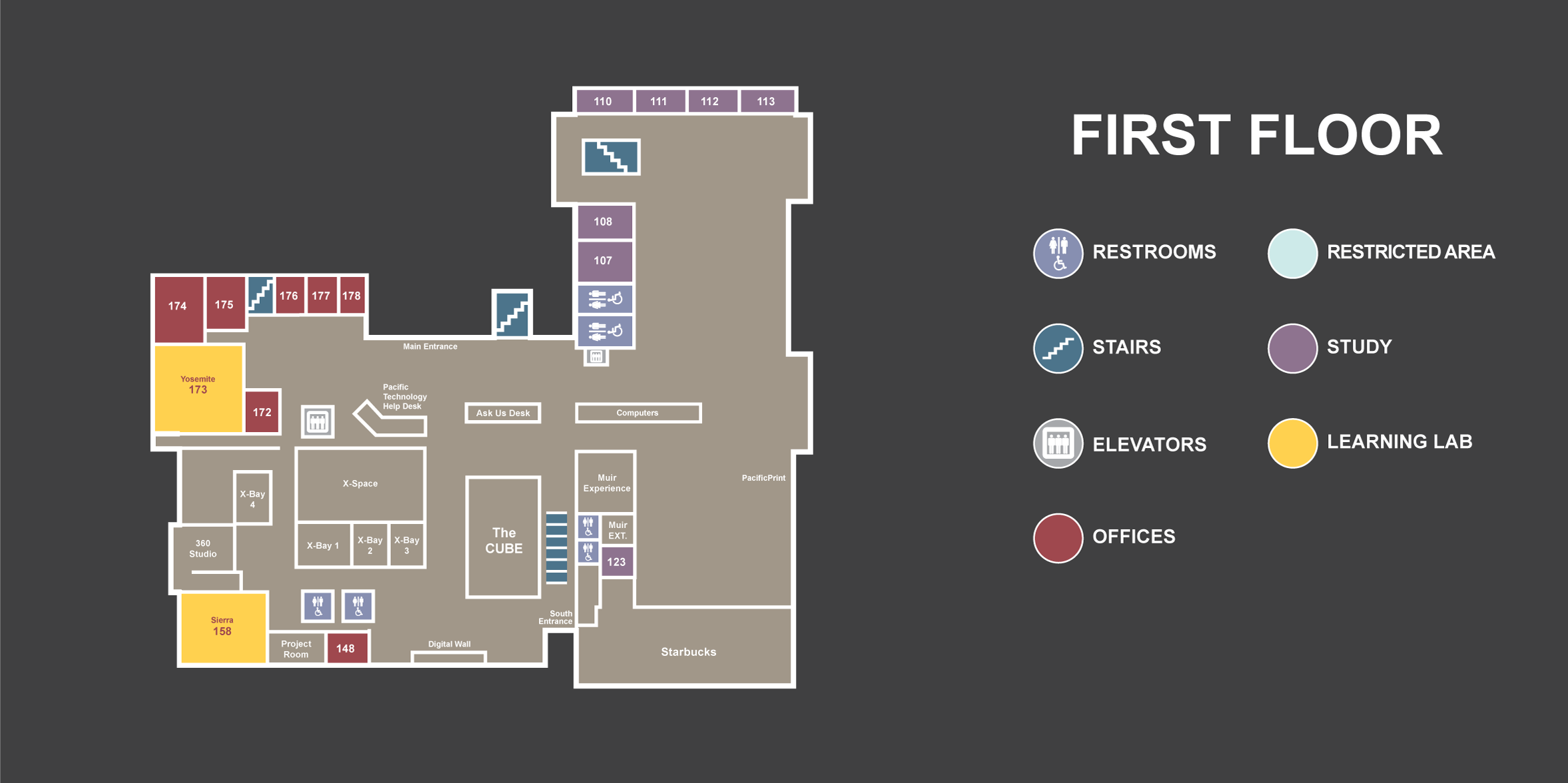 Library 1st Floor Map