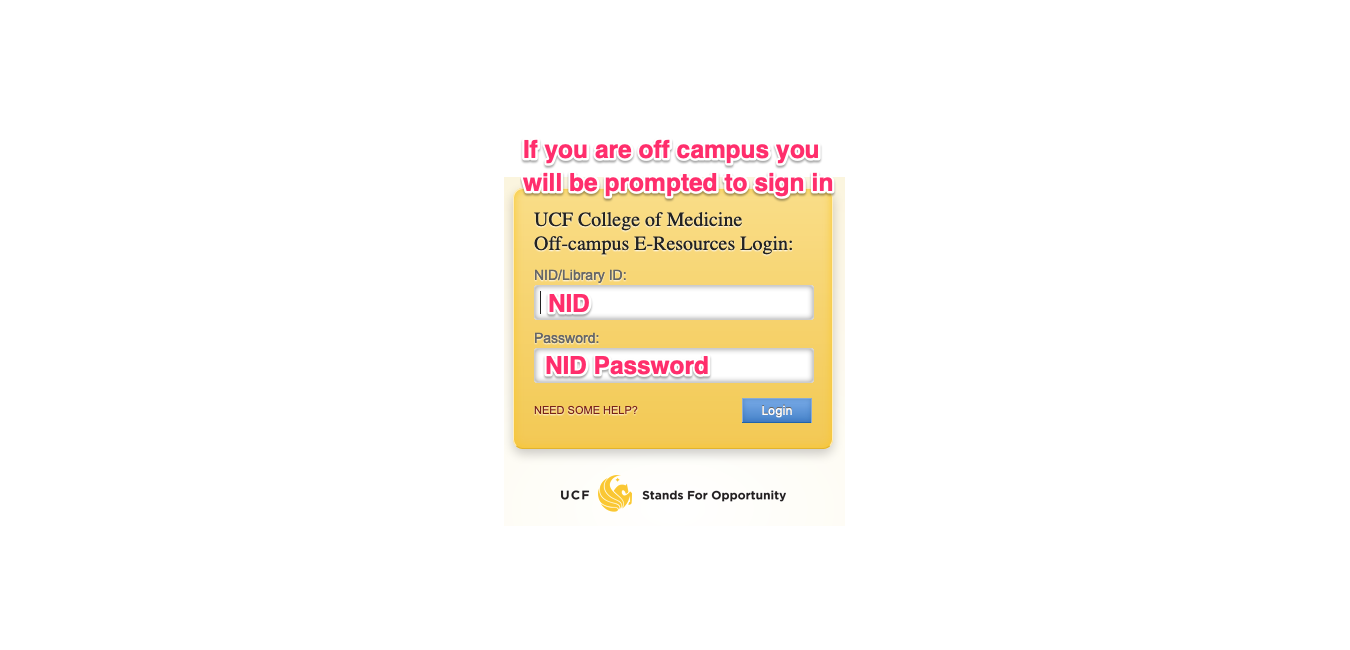 Step 2 - Login with UCF NID and password