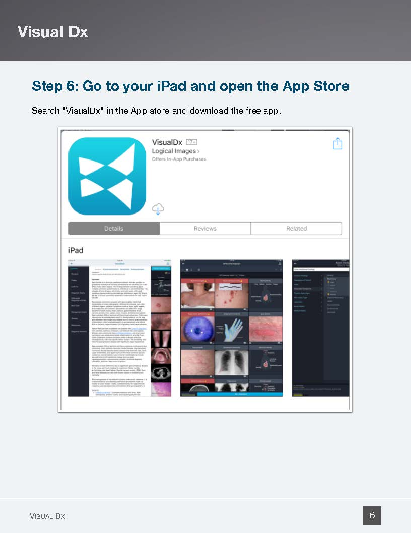 Go to App Store and download VisualDX App - Page 6