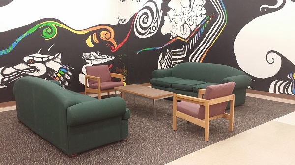 mural room lounge area