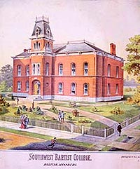 Image of trustees authorized artist's rendition of the original building.