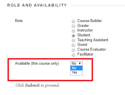 change availability options