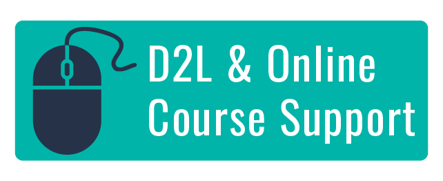 D2L and online course support