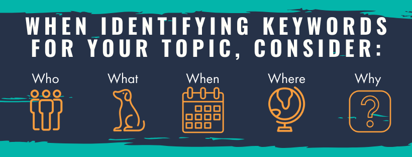 Identify keywords for your topic.