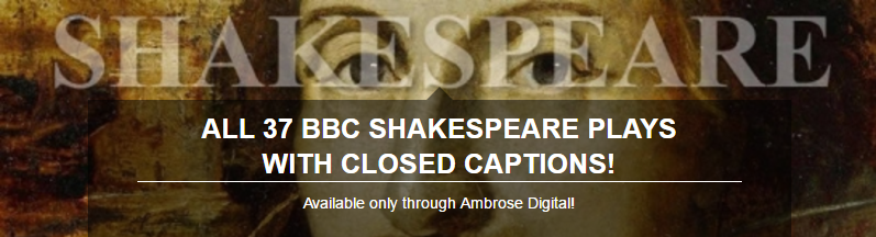 Ambrose Shakespeare Collection Banner