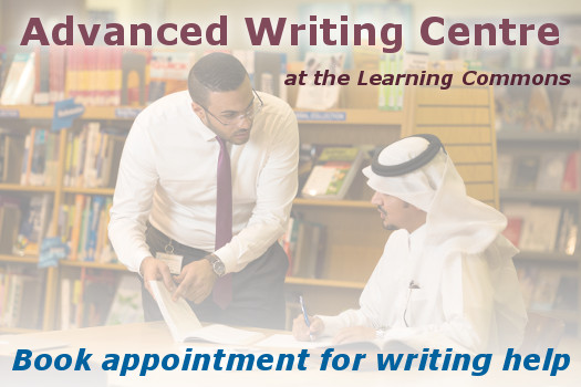 Book Advanced Writing Centre appointment