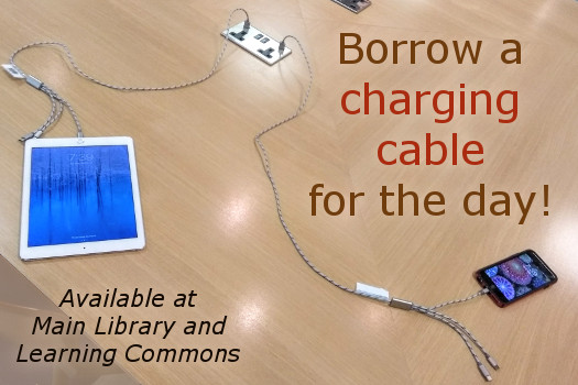 Borrow a charging cable!