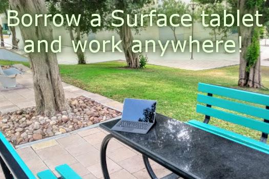 Borrow a Surface tablet!
