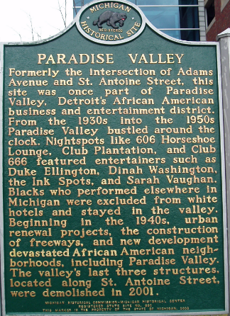 paradise valley historical marker
