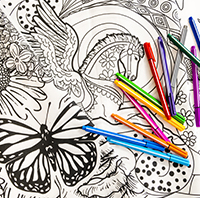 Outside the Lines - Adult Coloring Hour
