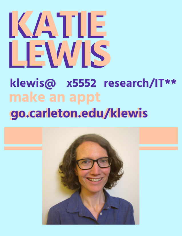 Katie Lewis appointment card