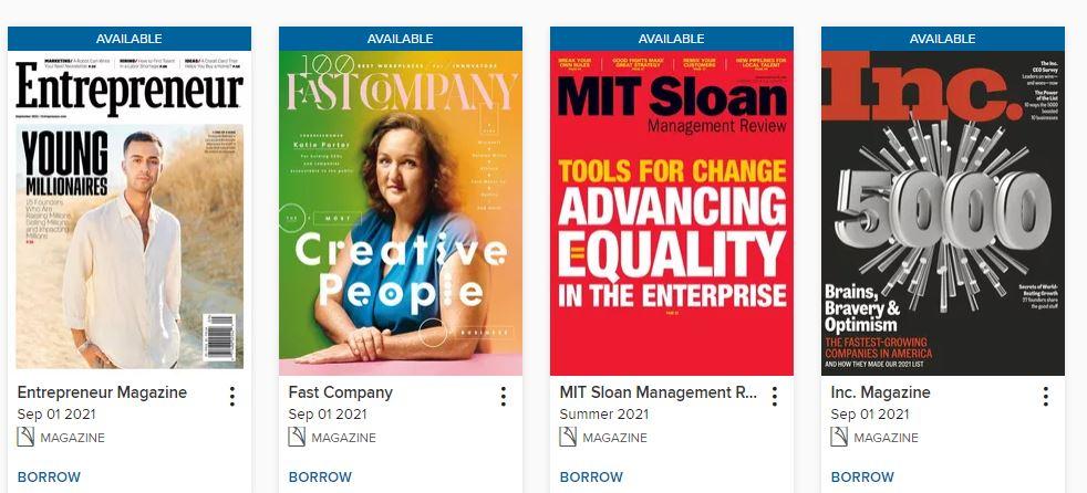 Overdrive Entrepreneurship magazines