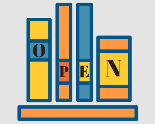 Open books graphic