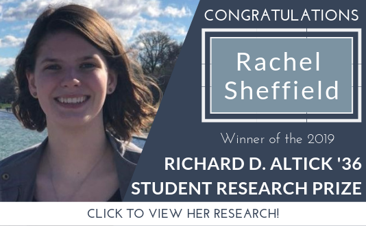 Rachel Sheffield 2019 Winner of the Altick Prize