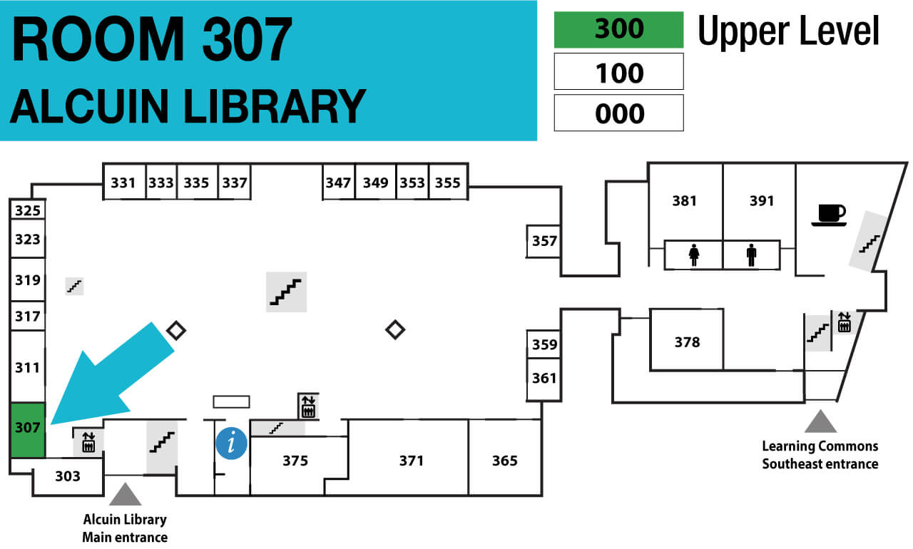 Location of Alcuin Library room 307