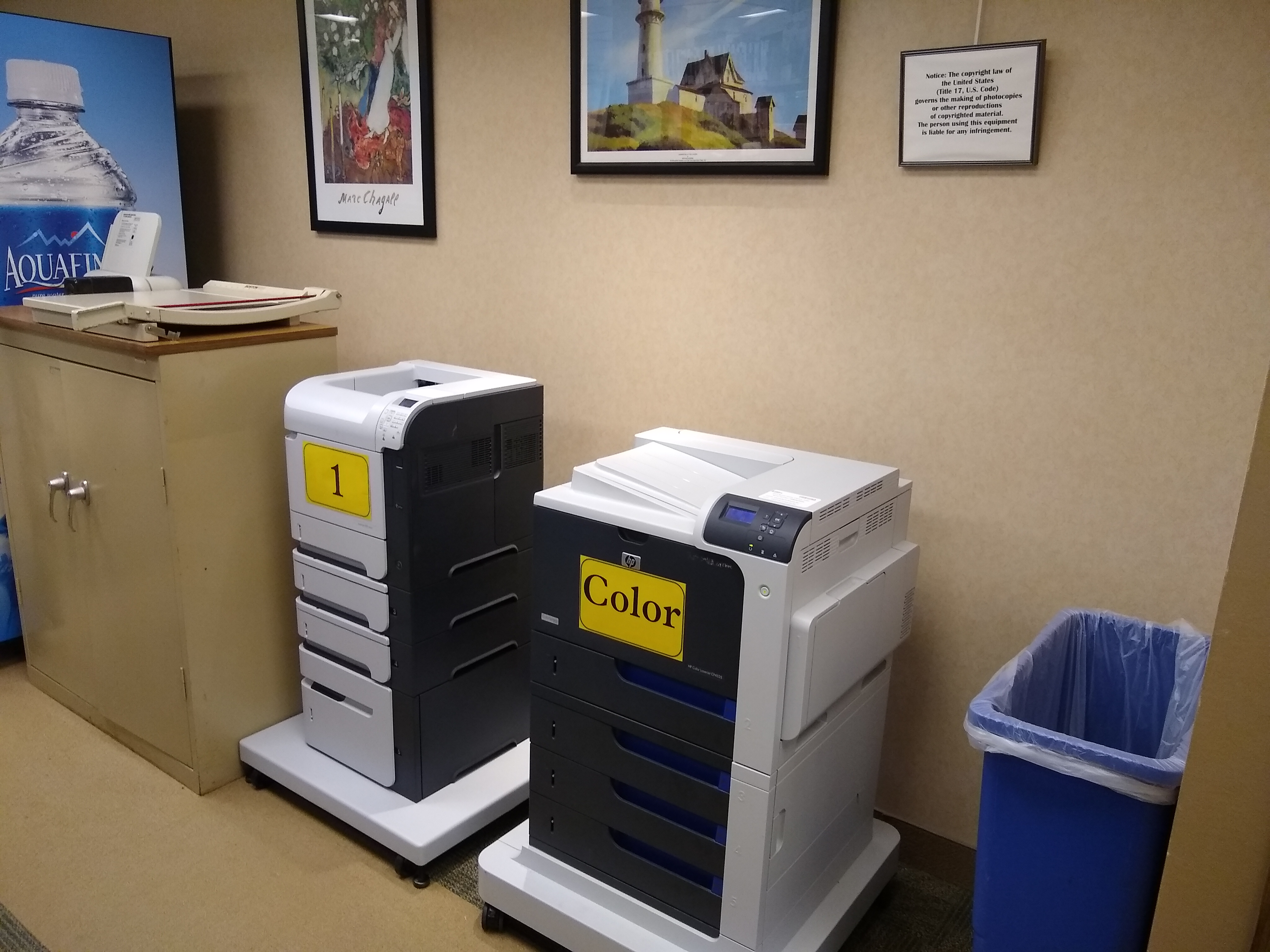 Image of library printers
