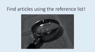 Finding Full Text: Article Title