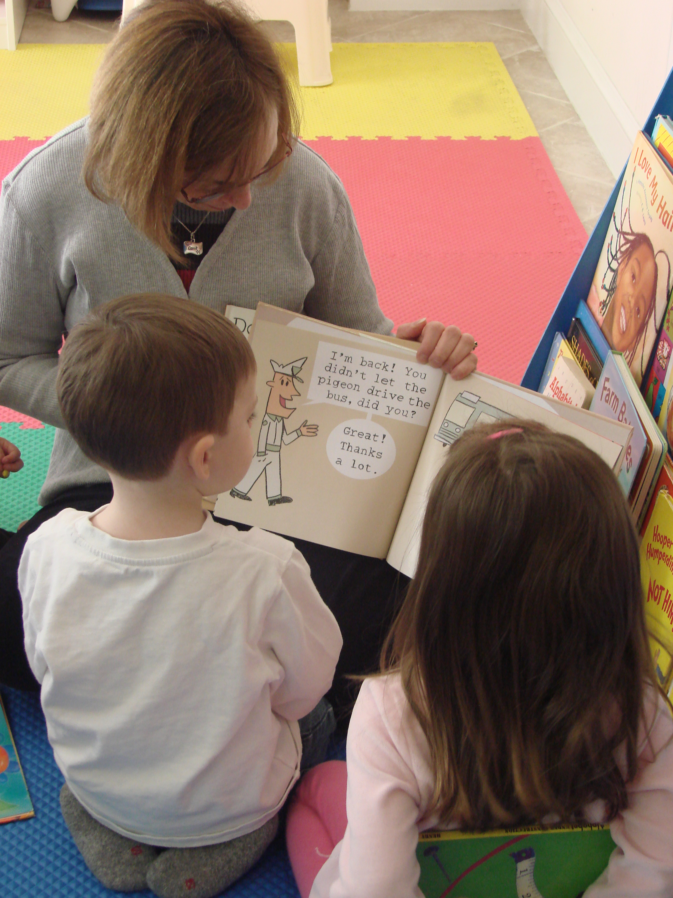 adult reading to children