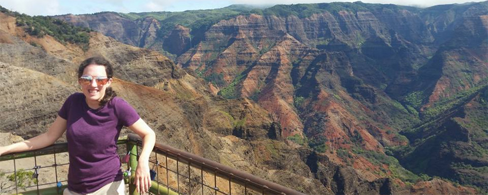 Rachel Lamantia visiting the Grand Canyon