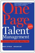 Cover art for One Page Talent Management