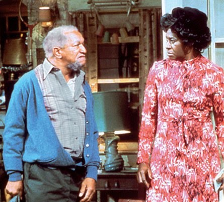 Image of Characters Fred Sanford and Aunt Esther from Sanford and Son