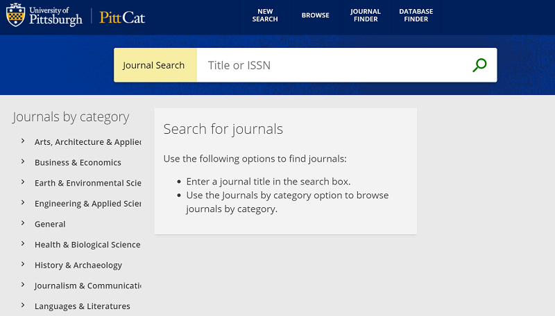 journal search image