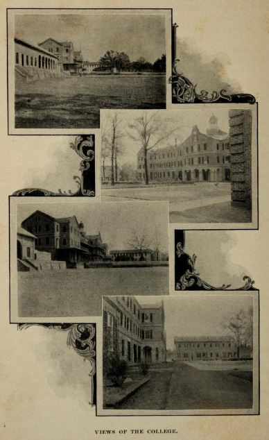 Image of campus buildings from college catalog 1898 1899