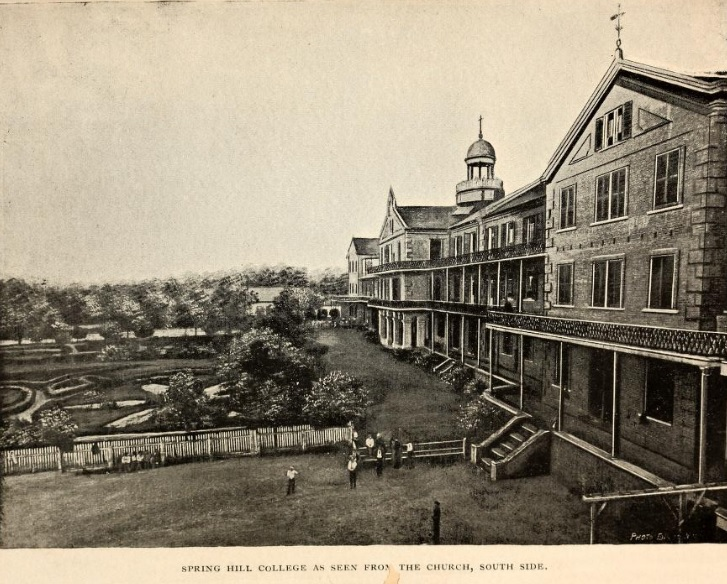 From the 1891 college album, an image of campus near Lucey Hall