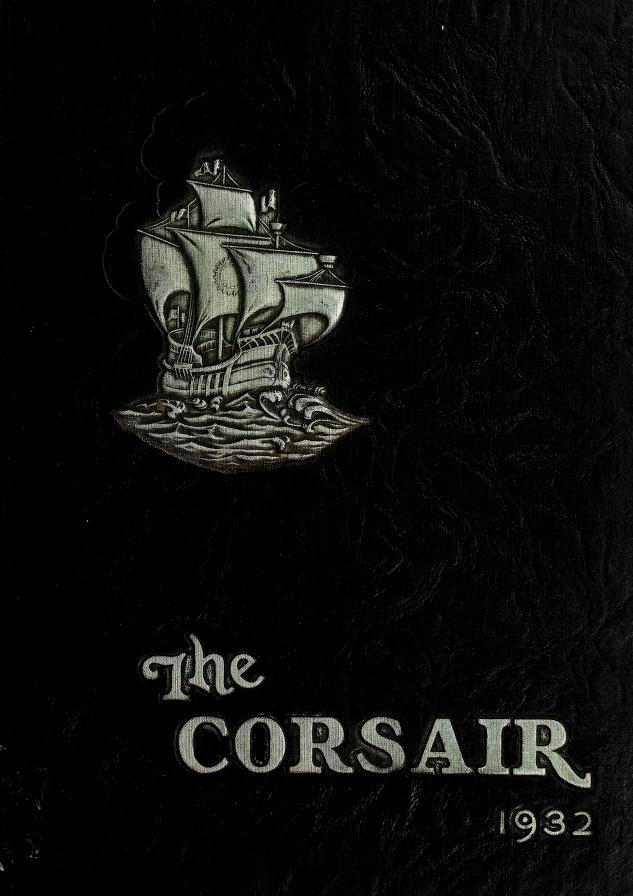 Cover of the 1932 corsair yearbook
