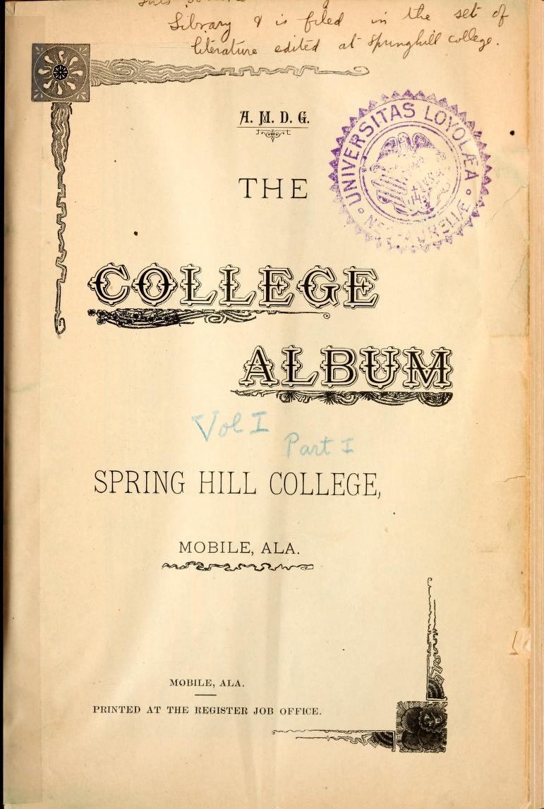 Cover of College Album 1891